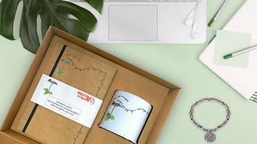 Producto solidario diseñado y producido por Forletter para Ayuda en Acción