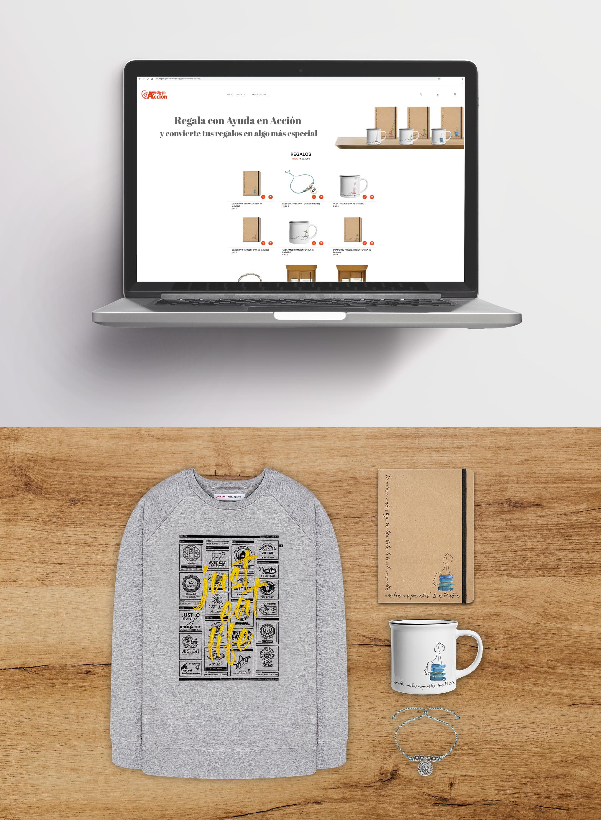 Diseño y producción de regalos solidarios para Ayuda en Acción
