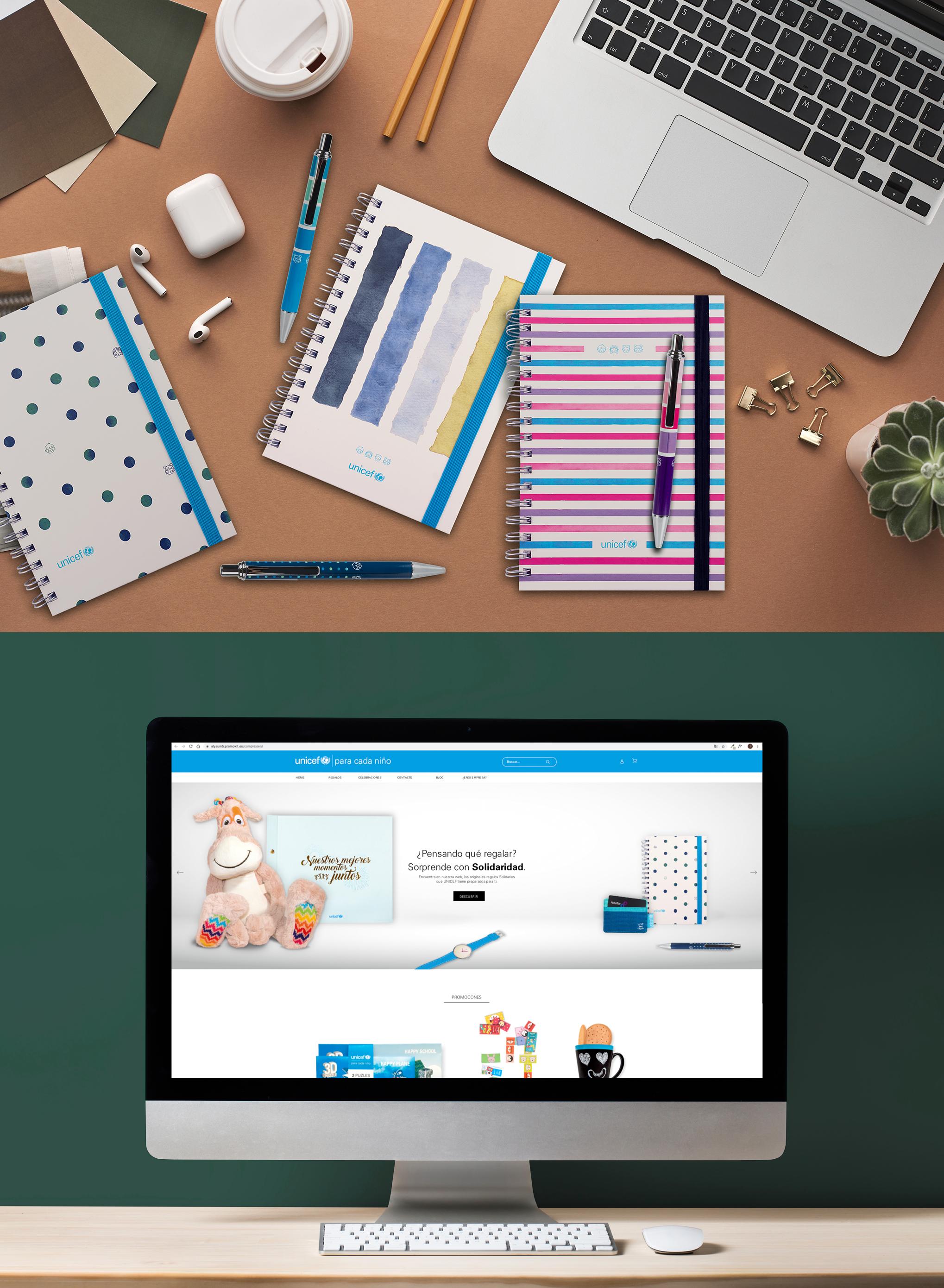Diseño y producción de regalos solidarios para UNICEF