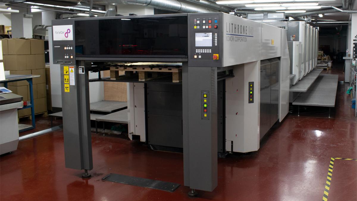 impresión offset UV de bajo consumo